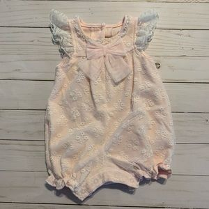 NWOT Lace Baby Pink Romper